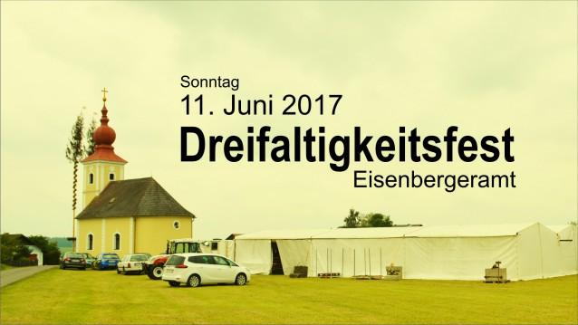 Sonntag, 11. Juni 2017 - Dreifaltigkeitsfest Eisenbergeramt